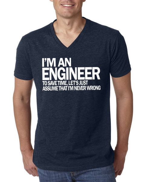 Engineer V Neck T Shirt