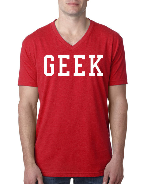 Geek V Neck T Shirt