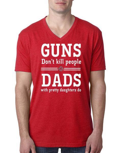 Dads with pretty daughters V Neck T Shirt