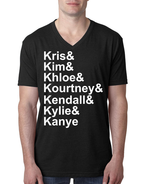 Kris kim khloe kourtney kendall V Neck T Shirt