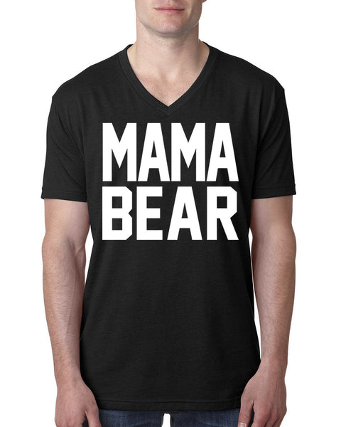 Mama bear V Neck T Shirt