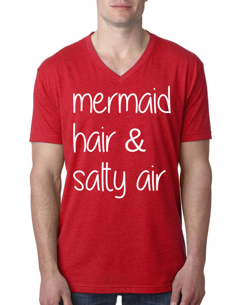 Mermaid hair salty air V Neck T Shirt