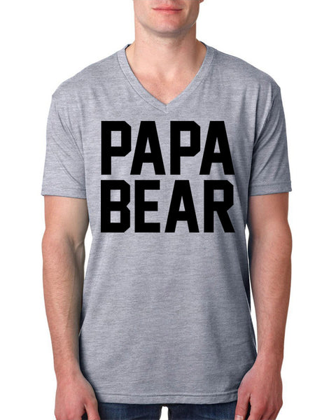 Papa bear V Neck T Shirt