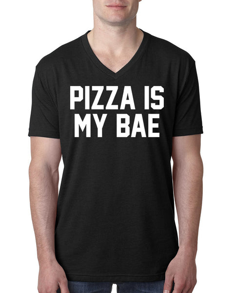 Pizza is my bae V Neck T Shirt