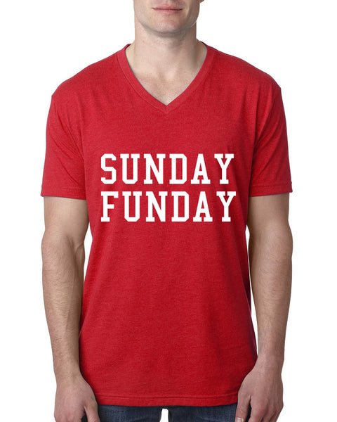 Sunday funday V Neck T Shirt