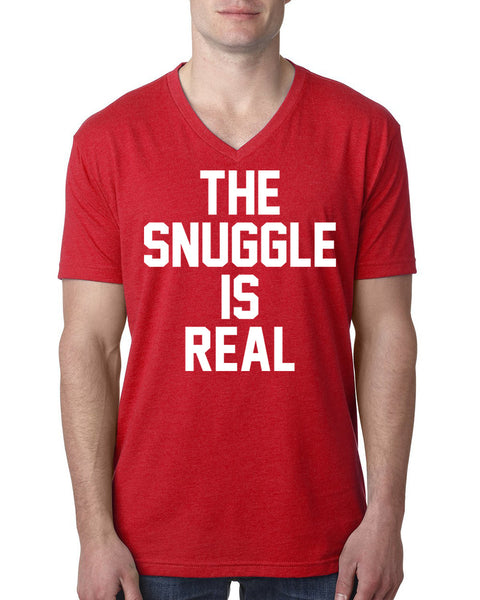 The snuggle is real V Neck T Shirt