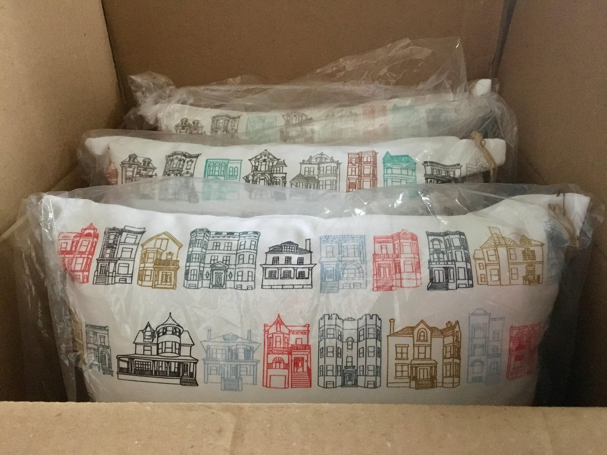 Shipping NeighborHäuser™ Pillows