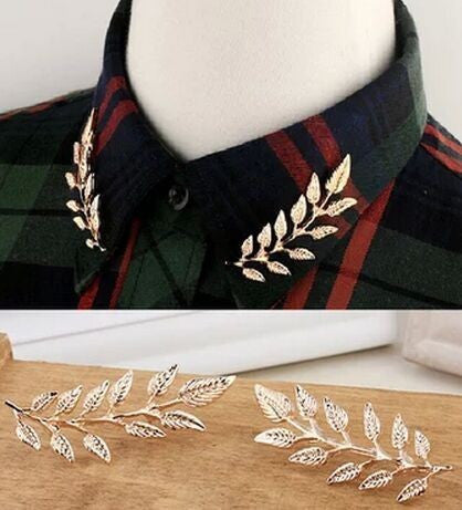 Collar Brooch - Leaf