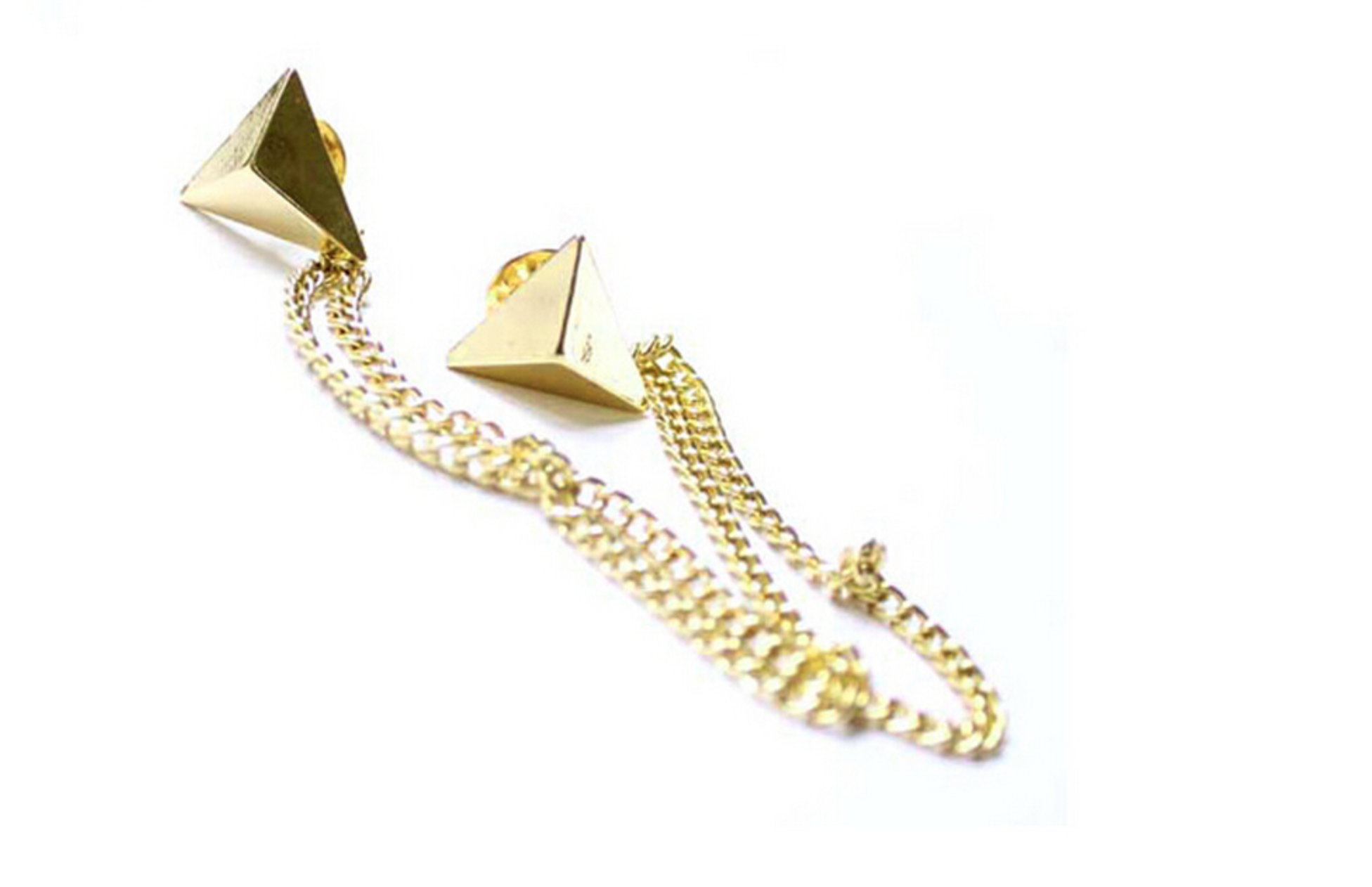 Gold Chain Collar Pin