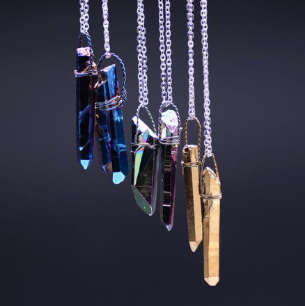 Titanium Quartz Necklaces
