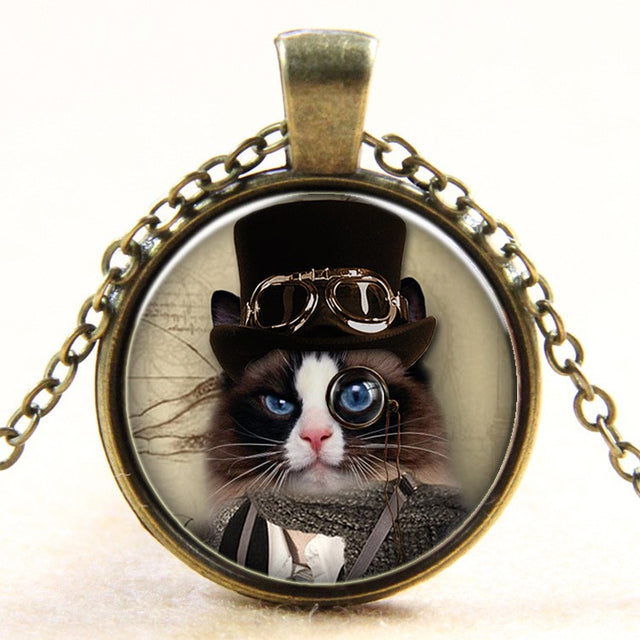 The Monocle Cat Necklace