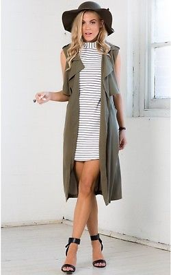 Square Back Chiffon Trench