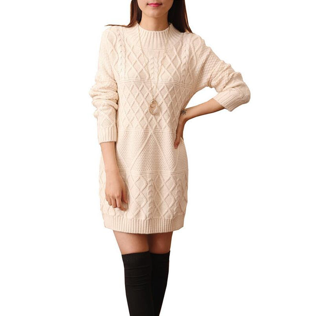 Diamond Knit Sweater Dress