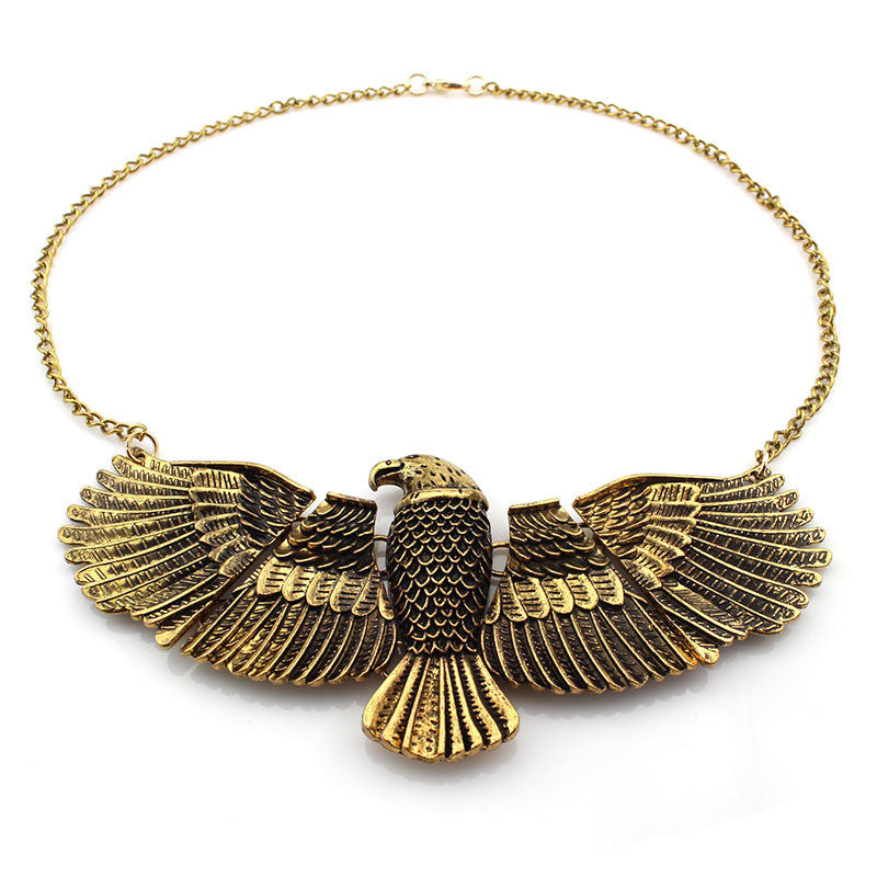 Antique Gold Eagle Necklace