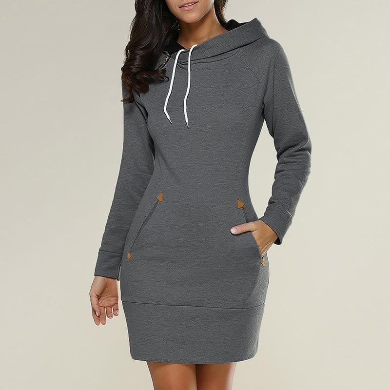 Arrowhead Hoodie Sweater Dress