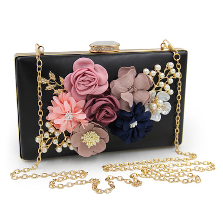 Pop-up Flower Square Clutch