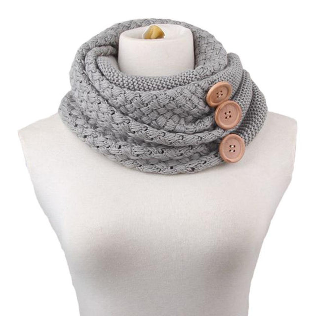 Button Knit Scarf