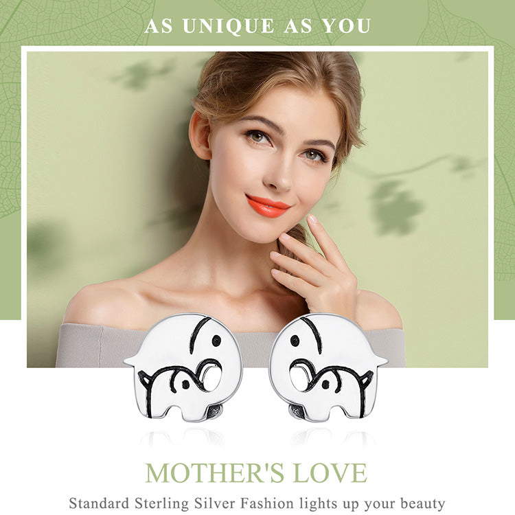 Mother's Love Elephant Earrings