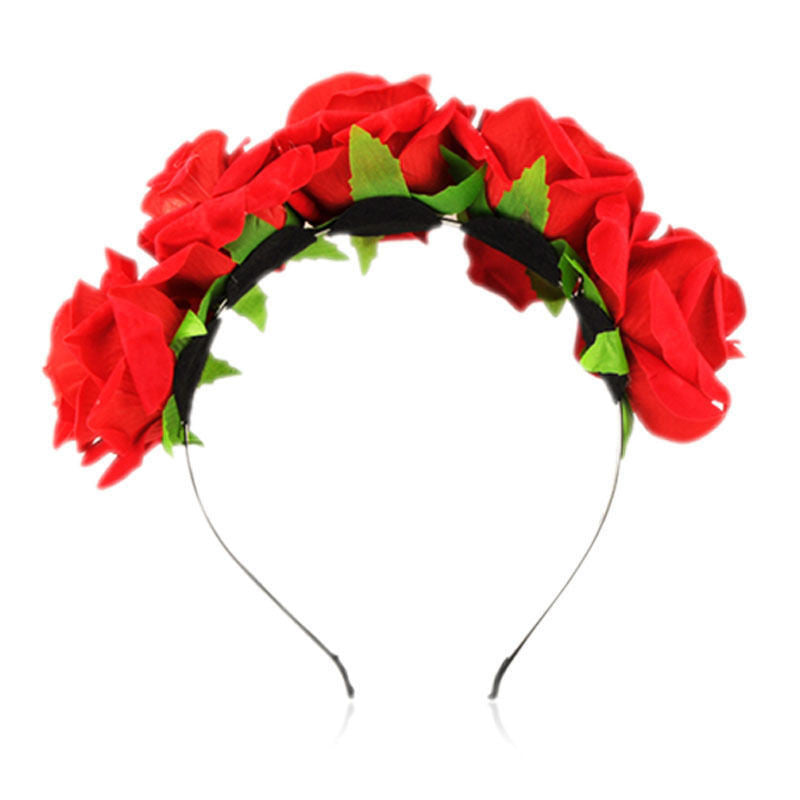 Rose Floral Hairband/Crowns