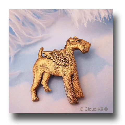 Wire Fox Terrier Angel Dog Pin