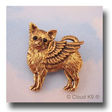 Chihuahua Angel Dog Pin