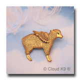 Sheep Guardian Angel Pin