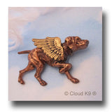 Vizsla Guardian Angel Dog Pin