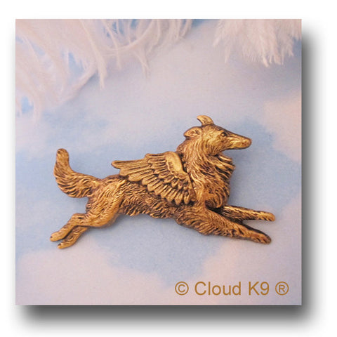Collie Dog Angel Pin Jewelry