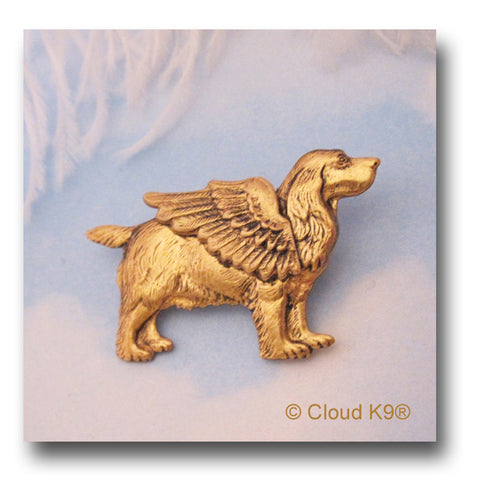 English Cocker Spaniel Angel Dog Pin