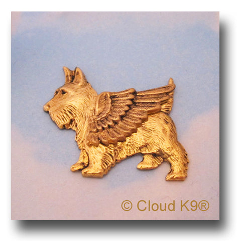Scottie Guardian Angel Dog Pin