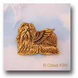 Shih Tzu Guardian Angel Dog Pin