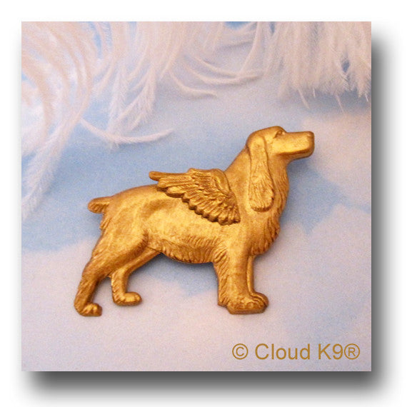 English Springer Spaniel Angel Dog Pin