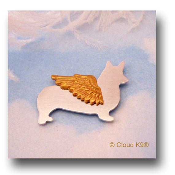 Corgi Dog Angel Pin Jewelry