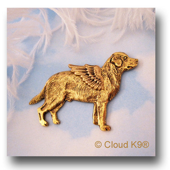 Yellow Labrador Retriever Angel Dog Pin (Yellow Lab)