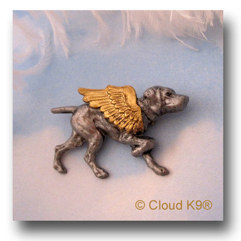 Weimaraner Guardian Angel Dog Pin