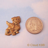 Terrier Mutt Angel Pin Sympathy Gifts