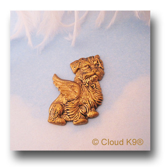 Mixed Breed Terrier Angel Dog Pin