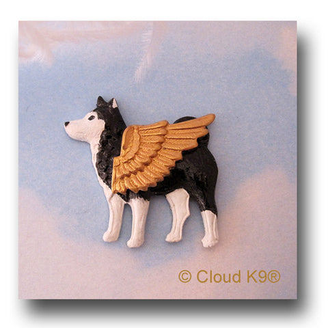 Alaskan Malamute Guardian Angel Dog Pin