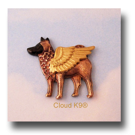 Akita Angel Dog Pin / Jewelry