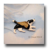 Border Collie Guardian Angel Pin Sympathy Gift