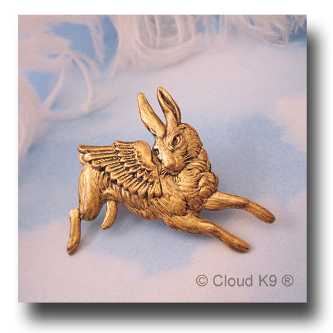 Bunny Rabbit Angel Pin Jewelry