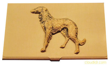 Russian Wolfhound (Standing) Business Card Case