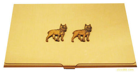 Boston Terrier Business Card Case