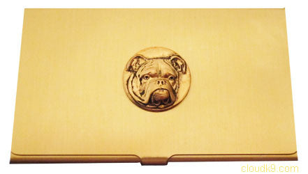 Bulldog Business Card Case