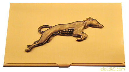 Greyhound (Art Deco Style) Business Card Case