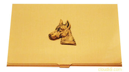 Doberman Business Card Case