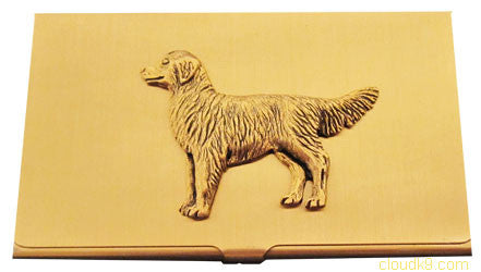 Golden Retriever Business Card Case