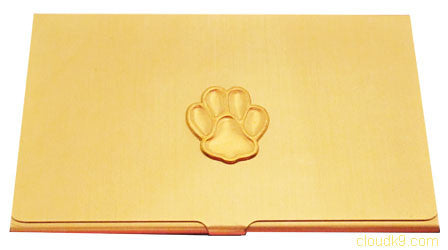 Paw Print Business Card Case