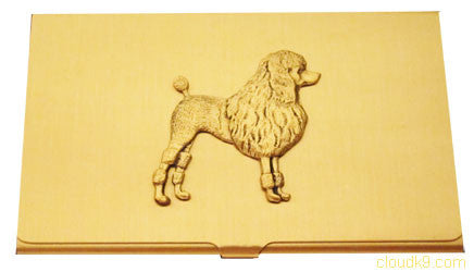 Poodle Business Card Case