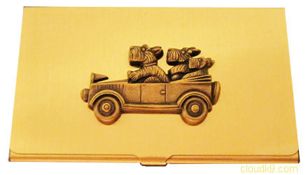 Westies in Car Business Card Case